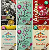 AriZona Assorted Iced Tea Stix (2 Green Tea, 1 Arnold Palmer, 1 Green Tea Pomegranate, 1 Peach Iced Tea, 1 Green Tea Lemon) 10 Count Per Box (Pack of 6), Single Serving Drink Powder Packets, Add Water