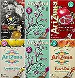 AriZona Assorted Iced Tea Stix (2 Green Tea, 1 Arnold Palmer, 1 Green Tea Pomegranate, 1 Peach Iced Tea, 1 Green Tea...