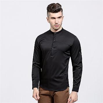 GK Hombre Camisa Moda Casual Camisa de Vestir Slim Fit Camisa de ...