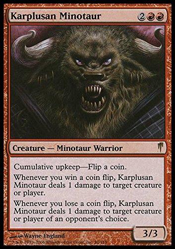 Amazoncom Magic The Gathering Karplusan Minotaur Coldsnap
