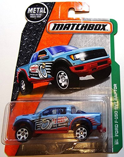 Svt Ford F150 Collectibles (Matchbox 2016 MBX Explorers Ford F-150 SVT Raptor 117/125, Light Blue)