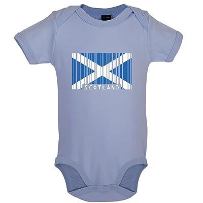 Écosse / Scotland - Drapeau Code Barre - Bébé-Body - 7 Couleur - 0-18 mois