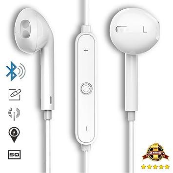Auriculares inalámbricos elegantes tipo iPhone, versión mejorada con Bluetooth v4.1: Amazon.es: Electrónica