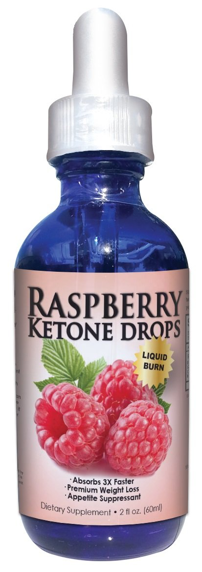 Raspberry Ketone Ultra Drops | Superior Liquid Weight Loss Drops | Absorbs Three (3) Times Faster | 60 Servings Per Bottle | Full Thirty (30) Day Supply