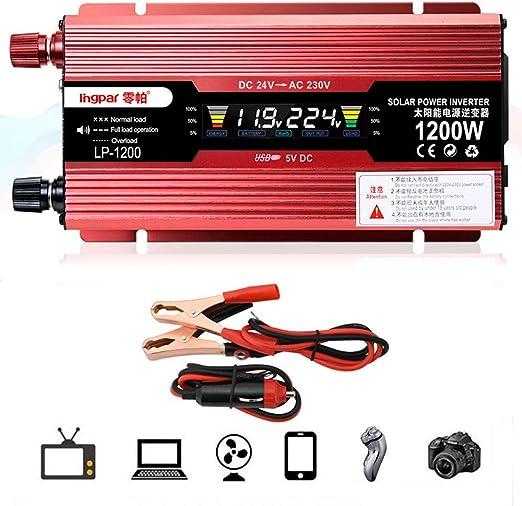 Inversor de corriente de coche 1000W//2000W inversor de corriente de coche DC 12V AC 220V adaptador convertidor con puerto USB
