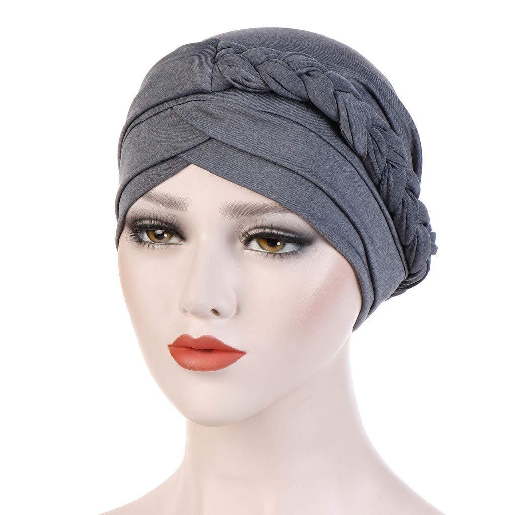 Musulmano Cappuccio Turbante Chemioterapia Donna Headwear Soft Tinta Unita Cappello Elegante Moda Wrap cap,Pwtchenty