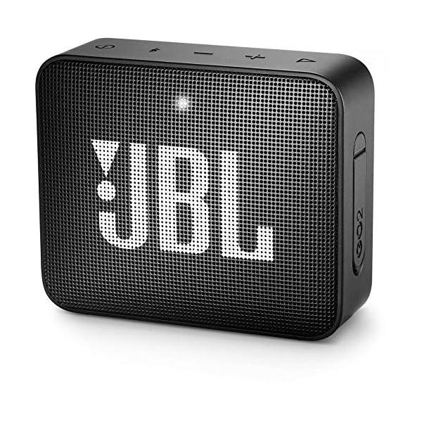 JBL GO 2 - Mini Enceinte Bluetooth portable - Étanche pour piscine & plage IPX7 - Autonomie 5hrs - Qualité audio JBL - Noir 1