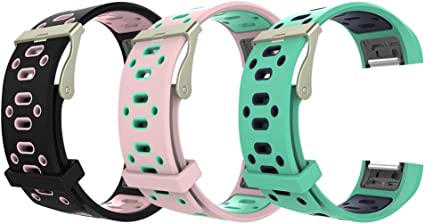 Replacement Sport Silicone Wristband Bracelet Band Strap for Fitbit Charge 2