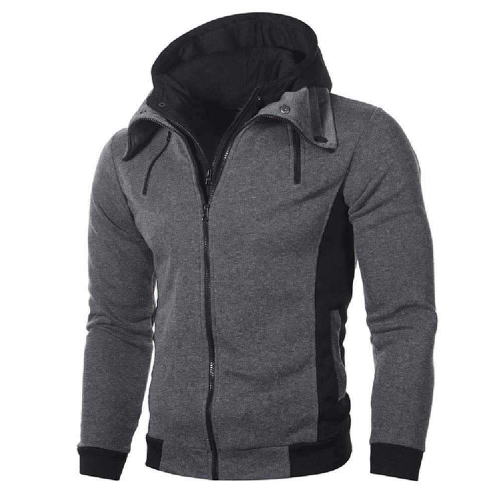 Winter Warm Hoodies Sweatshirts Men Fashion Solid Cardigan Men Clothing Casual Hoodie Sweatshirt