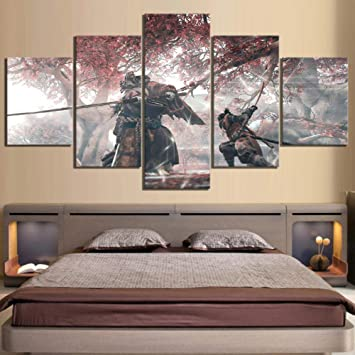 Amazon.com: sasdasld 5 Piece HD Fantasy Art Ninja Wolf ...