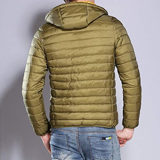 Allywit Mens Heavy Winter Puffer Jacket Waterproof Windproof Insulated Work Coat at Amazon Mens Clothing store: