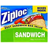 Ziploc Easy Open Tabs Sandwich Bags 125 count (Pack of 6)