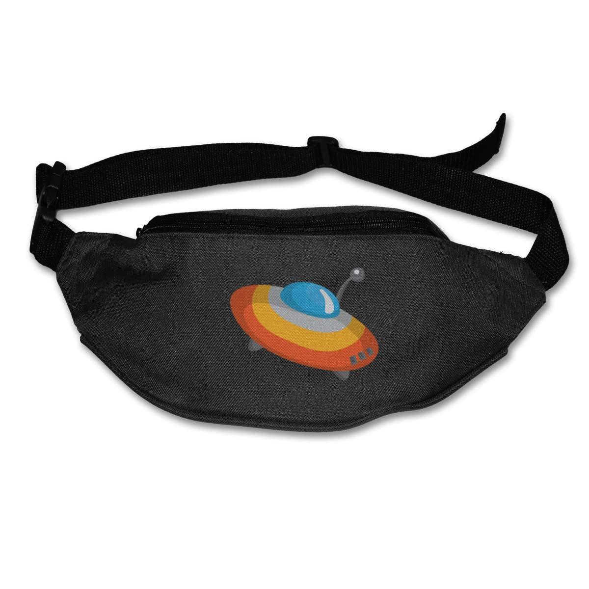 Cartoon Flying UFO Sport Waist Packs Fanny Pack Adjustable For Travel