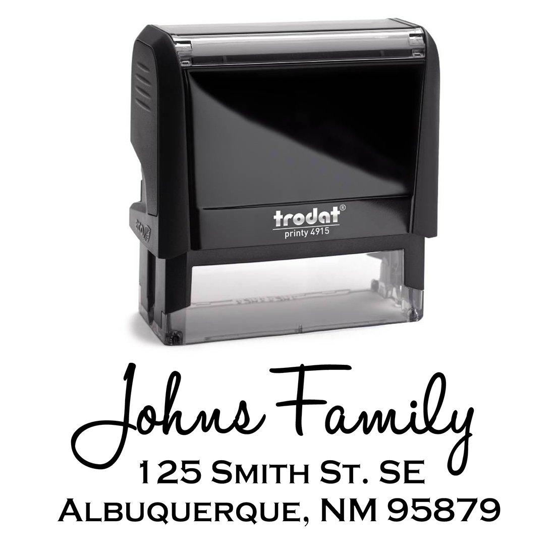 Black Self Inking Stamp Black Return Address Mail Stamper Custom Personalized Address Large 3 Lines Professional Wedding Gift Invitation Branding