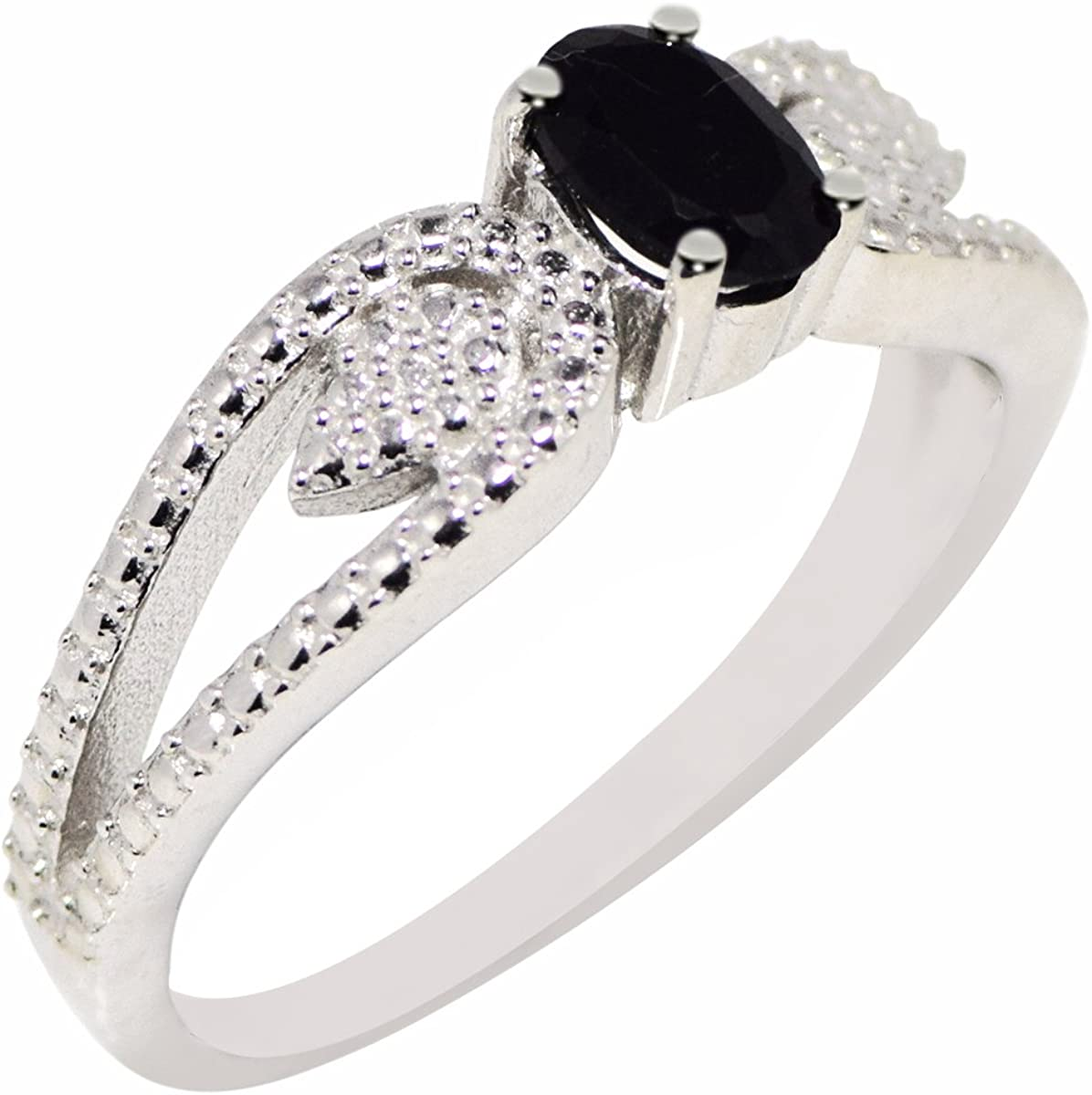 Black onyx gemstone 925 sterling silver wedding ring