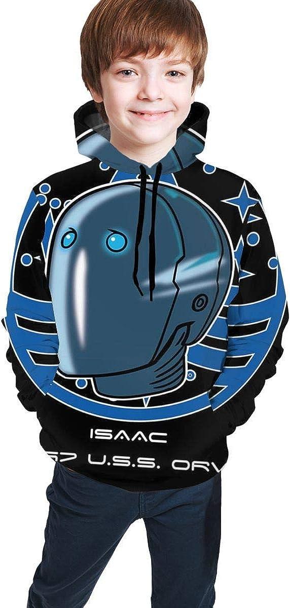 shenguang Isaac Ecv 197 USS Orville Badge 3D Print Pullover Hoodies Sudaderas con Capucha Sudaderas para niños Adolescentes Niños Niñas
