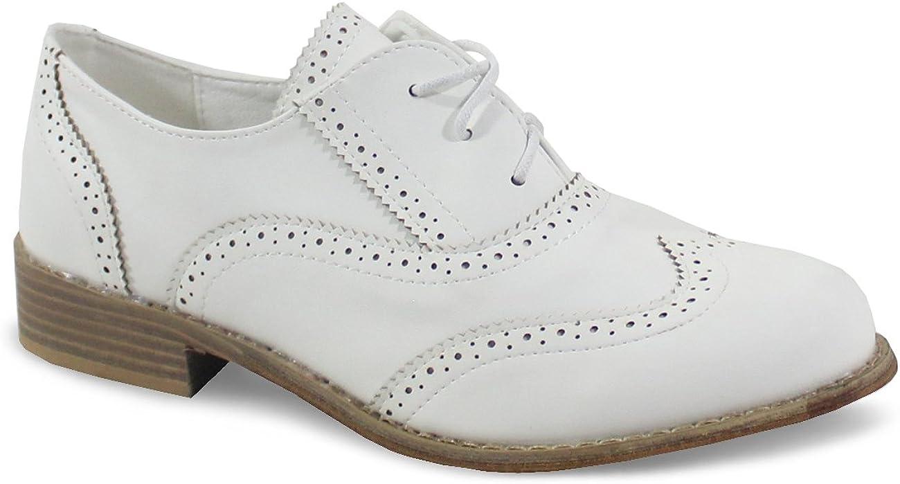 By Shoes Derbies Style Cuir Mat Femme