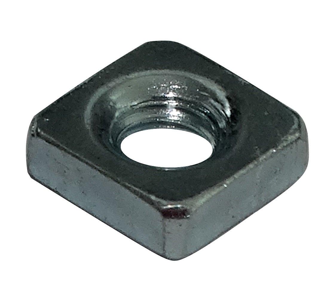 Aerzetix: 100 x M3 Square Nuts 5.5mm H1.8mm DIN562 Zinc-plated Steel C19176 C19176-AQ155 x100