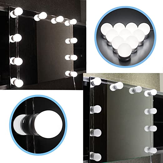 Chende led vanity mirror lights kit with dimmable light bulbs chende led vanity mirror lights kit with dimmable light bulbs lighting fixture strip for makeup mozeypictures Image collections