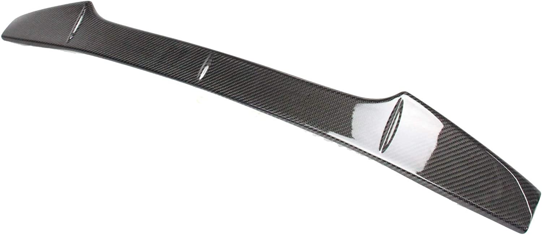 autopartsTW Compatible with 2015-2019 Subaru WRX STI Sedan Rear Spoiler Wing Top Gurney Flap Carbon Fiber with Shark Fins Type