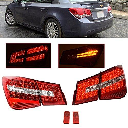 Chevy Cruze 2011-2015 Mercedez Style Rear LED Tail Lights Lamps Assembly Sedan