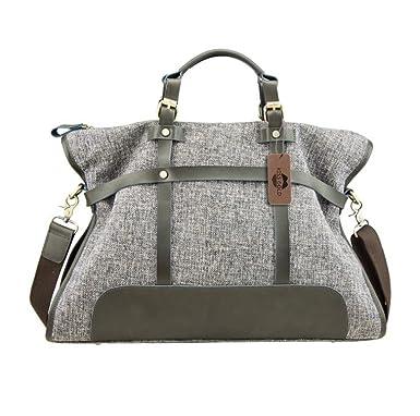 a0d2eb1916 Amazon.com  KISS GOLD(TM) Women Canvas Hobo Totes Office Handbags Crossbody  Shoulder Bags Vintage