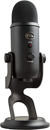 Todo para el streamer: Blue Microphones Yeti - Micrófono USB para grabación y streaming en PC y Mac, 3 cápsulas de condensador, 4 patrones de captación, Salida de auriculares y control de volumen, color Negro (Blackout)