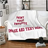 """Customized Flannel Blanket Plush Personalized Blankets for Beds Custom Blanket (40""""X50"""")"""