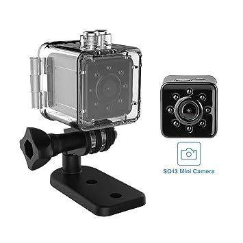 KEZIO Mini cámara SQ13, cámara oculta de WiFi, mini cámara espía, cámara de red inalámbrica de ...