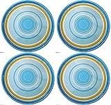 Zak Designs Hampton 8-Inch Melamine Salad Plate Set of 4-Dinnerware for Adults or Children
