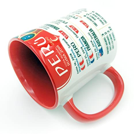 Amazon.com: Gio Gifts Peru The Road To The Soccer Futbol World Cup Russia 2018 Souvenir Coffee Mug 2: Kitchen & Dining