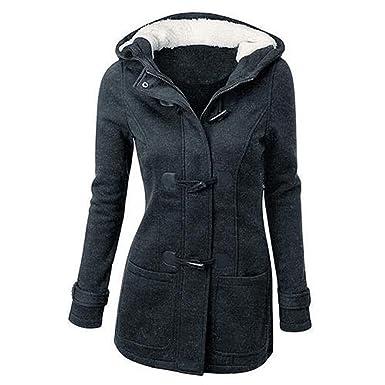 5b03beefff4d ZEARO Damen Warm Mantel lang Wolle Jacke Kapuze Hoodies Outerwear Winter  Overcoat  Amazon.de  Bekleidung