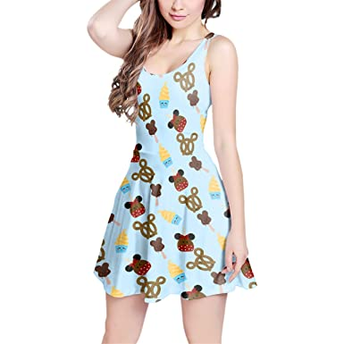 2344725d80 Image Unavailable. Image not available for. Color  Snack Goals Disney Parks  Inspired Sleeveless Flared Skater Dress