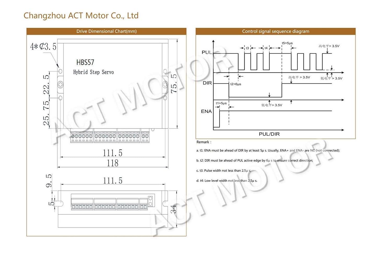 ACT MOTOR GMBH 1PC Nema23 Closed Loop Schrittmotor 23SSM2440-EC1000 2.8Nm 4A