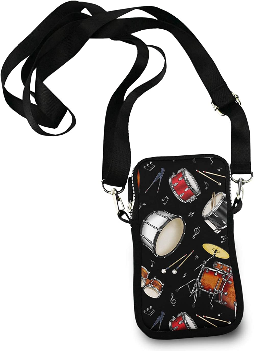 Roomy Pockets Series Rock Drum Stand Small Crossbody Bag Cell Phone Purse Wallet For Women Girls