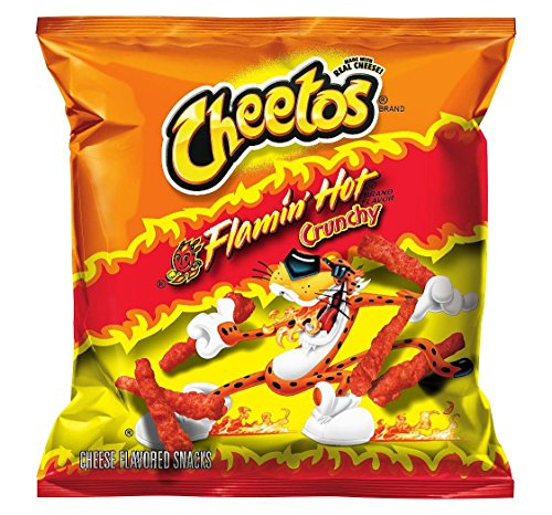 Cheetos Cheese Snacks, Crunchy Hot, 2-Ounce Large Single Serve Bags (Pack of (Cheetos Halloween Bones)
