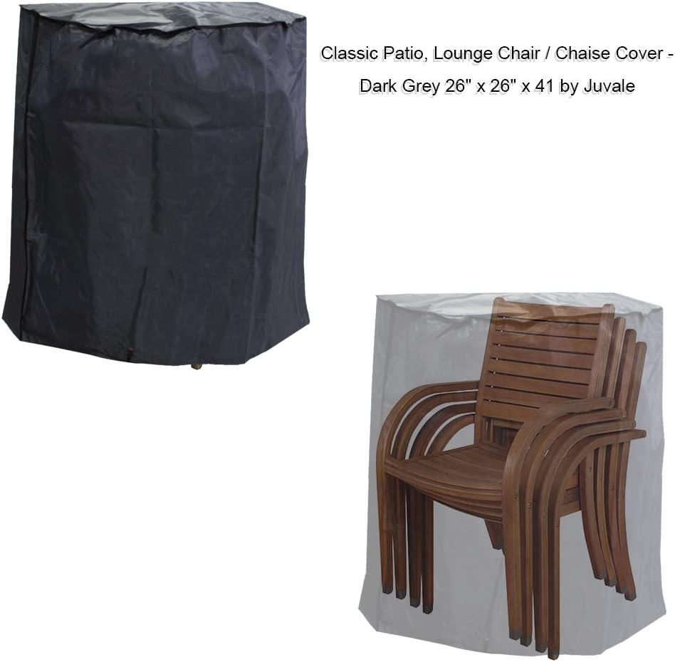 Juvale Patio Chair Cover Outdoor Waterproof Chair Cover, Patio Furniture Cover, Dark Grey- 26 x 26 x 41 Inches