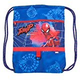 Disney Spider-Man Swim Bag for Kids w zipper Pocket and Cinch Top Closure