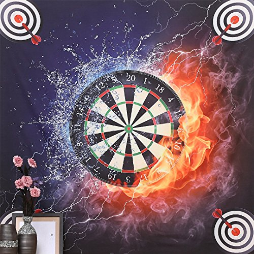 DueWork 57'' Large Square Compass Power Dart Fire Water Ethnic Hippie Beach Towel Yoga Mat Tapestries Blanket Swimwear Cover Up