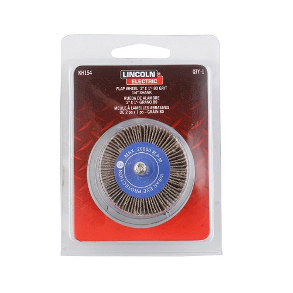 Round Shank Lincoln Electric KH154 Mounted Abrasive Flap Wheel 2 Diameter x 1 Width The Lincoln Electric Company Aluminum Oxide Pack of 3 2 Diameter x 1 Width 80 Grit
