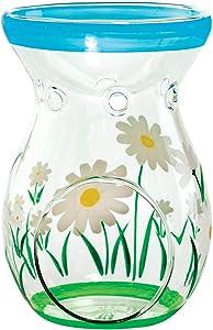 Fox Valley Traders Spring Daisy Glass Tealight Holder