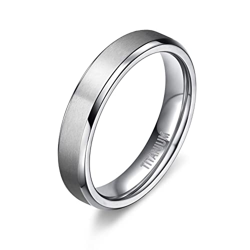 4mm 6mm 8mm unisex titanium wedding band rings in comfort fit matte
