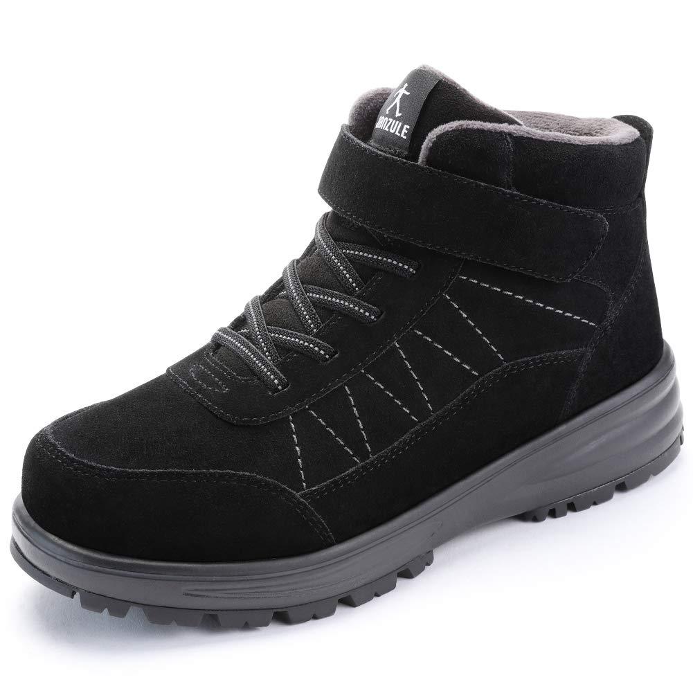 Amazon Com Elderly Walking Shoes Snow Boots Fur Lined Winter Warm