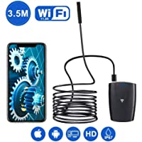DBPower 2MP HD WiFi Endoscope for Android, iPhone, iPad, Samsung&Tablet (3.5M/11.5ft)
