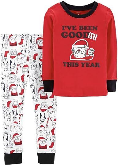 Carter's Conjunto de pijama para bebé con texto en inglés