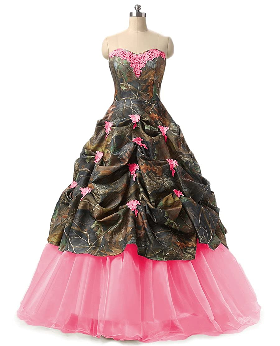 Chupeng Women's Appliques Camouflage Wedding Bridal Dresses Prom Quinceanera Plus Size