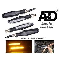 A2D Bike Sleek Amber LED Indicator for Yamaha SS 125 (Set of 4)