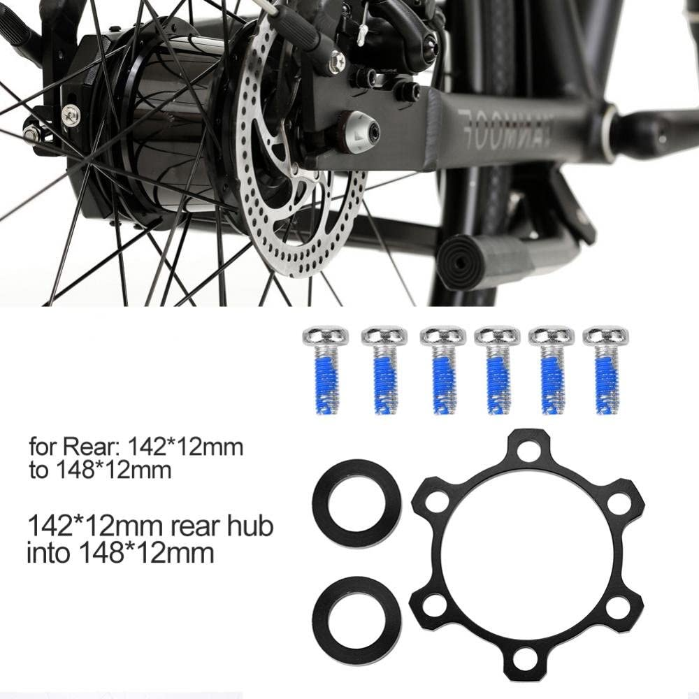 15 15 to 110 12 Bicycle Freewheel Threaded Hubs Adaptor Disc Brake Rotor Bolts Bicycle Accessory Alloy Bike Hub Adapter Conversion Front 100 Rear 142 12 to 148