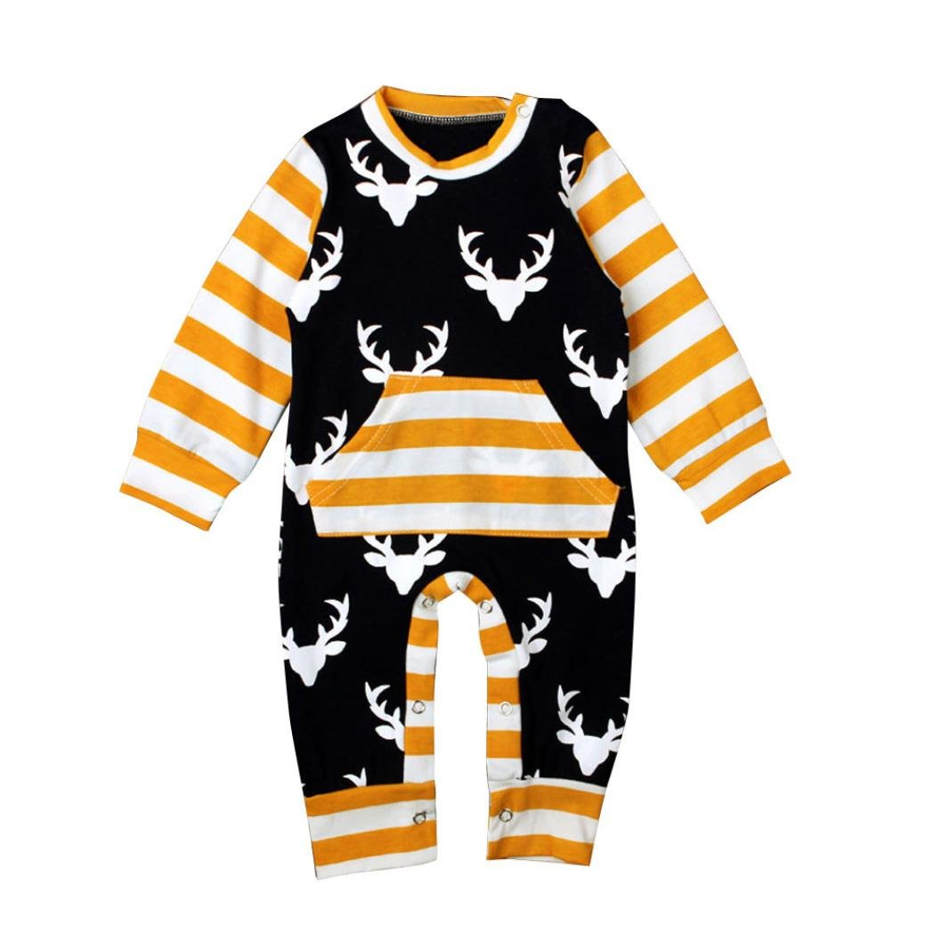 Bigban Newborn Baby Long Sleeve Clothes Bodysuit Romper Jumpsuit Playsuit Outfits