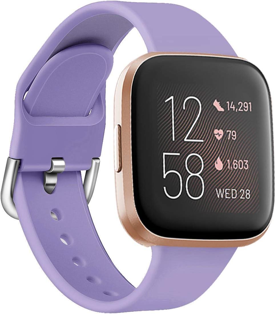 Yango Correa para Fitbit Versa 2/Versa Lite/Versa, Silicona Suave Pulsera con Hebilla de Metal, Respueto de Pulsera para Fitbit Versa 2/Versa Lite/Versa